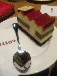 Tiramisu at Costa Coffee, it was quite yummy.