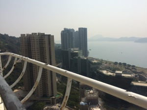 View from the balcony in Hong Kong