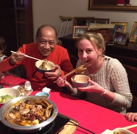Chinese New Year 2015 - eating a goose foot