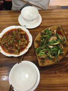 Lisa and I: 回锅肉 (on the right!)