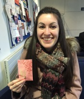 Megan with her envelope