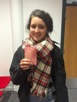 Ciara with her pink envelope!