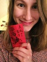 Dori with her envelope