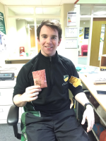 Dan with his envelope
