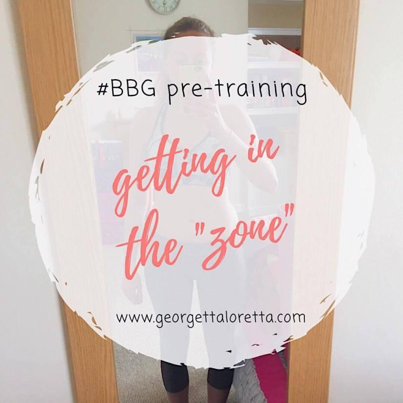 "#BBG pre-training: getting in the ""zone"""