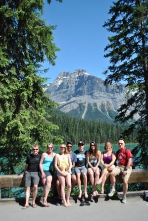 The crew at Emerald Lake